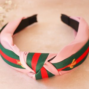 Pink Knot Alice band