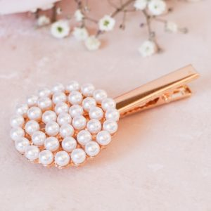 Round Pearly Hair Clip