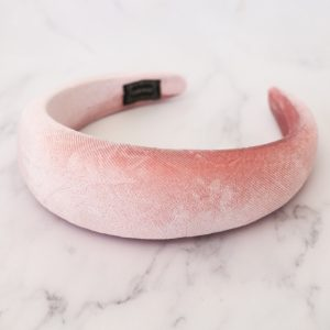 Alice Band Light Pink Suede