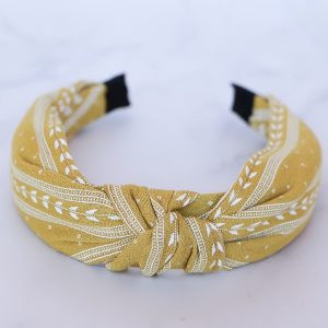 Mustard Detailed Alice Band