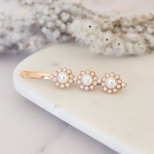 Hair Clip with 3 flowers